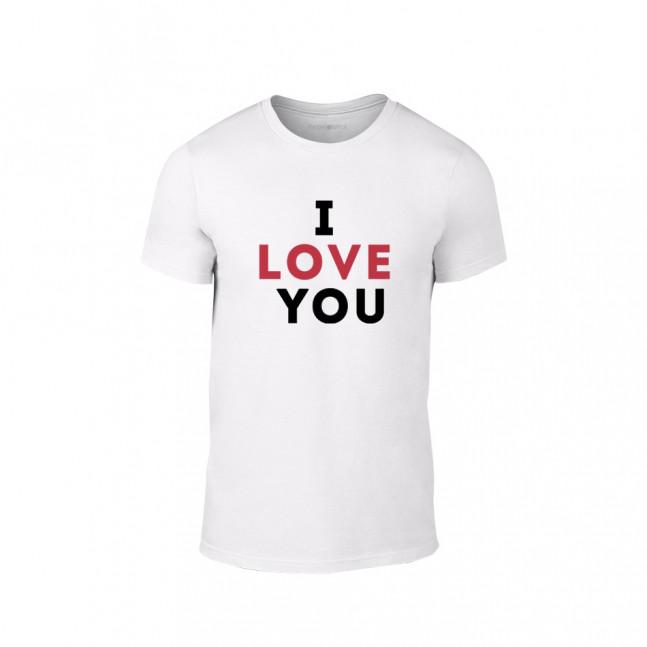 40708f7f9278 Κοντομάνικη μπλούζα I love you λευκό Χρώμα Μέγεθος XXL TMNLPM155XXL ...