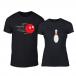 Μπλουζες για ζευγάρια Bowling μαύρο TMN-CP-226 2