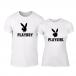 Μπλουζες για ζευγάρια Playboy λευκό TMN-CP-250 2