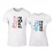 Μπλουζες για ζευγάρια Angel Devil λευκό TMN-CP-260 2