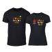 Μπλουζες για ζευγάρια Bee & Honey μαύρο TMN-CP-232 2