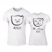 Μπλουζες για ζευγάρια Bears λευκό TMN-CP-238 2
