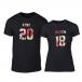 Μπλουζες για ζευγάρια King & Queen 2018 μαύρο TMN-CP-218 2