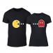 Μπλουζες για ζευγάρια PacMan μαύρο TMN-CP-234 2