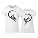 Μπλουζες για ζευγάρια One Love λευκό TMN-CP-242 2