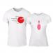 Μπλουζες για ζευγάρια Bowling λευκό TMN-CP-225 2
