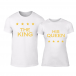 Μπλουζες για ζευγάρια Royal Stars λευκό TMN-CP-254 2