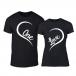 Μπλουζες για ζευγάρια One Love μαύρο TMN-CP-243 2