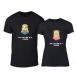 Μπλουζες για ζευγάρια One in a Minion μαύρο TMN-CP-230 2