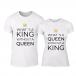 Μπλουζες για ζευγάρια What Is King λευκό TMN-CP-256 2