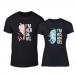 Μπλουζες για ζευγάρια Angel Devil μαύρο TMN-CP-261 2