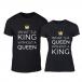 Μπλουζες για ζευγάρια What Is King μαύρο TMN-CP-257 2
