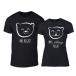 Μπλουζες για ζευγάρια Bears μαύρο TMN-CP-239 2