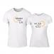 Μπλουζες για ζευγάρια Sun & Moon λευκό TMN-CP-227 2