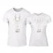 Μπλουζες για ζευγάρια Deerly λευκό TMN-CP-209 2